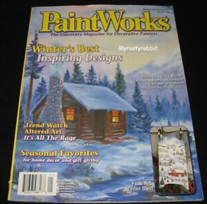 Paint Works Tole Painting Magazine - Jan 2004 - Christmas & Winter Patterns