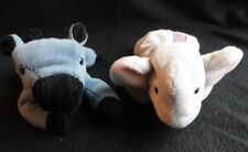 Ty Beanie Babies Righty Elephant and Lefty Donkey