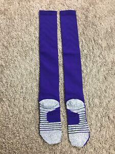 NIKE NFL MINNESOTA VIKINGS ELITE GRIP Football Team Issued Game Socks Size Large