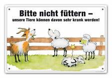 """Schild """"Bitte nicht füttern"""" (Schafe/Ziegen) Füttern verboten"""