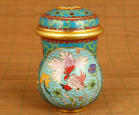 old red cloisonne hand painting gold fish Cricket cans pot box noble gift