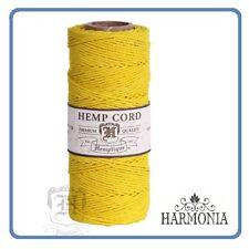 HEMPTIQUE 100% Pure  HEMP CORD SPOOLS  1mm Cord 62.5m spool  YELLOW