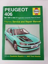PEUGEOT 406 HAYNES MANUAL 1999 to 2002 PETROL & DIESEL SALOON ESTATE