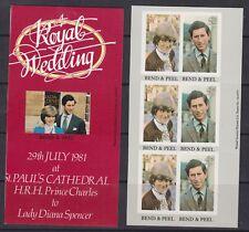 1981 Royal Wedding Charles & Diana MNH Stamp Booklet Panes Grenada Grenadines