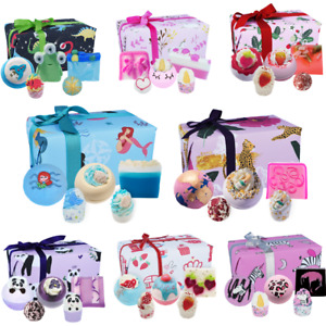 Bomb Cosmetics wrapped Luxury Gift Set Bath Bombs Blasters Pamper Birthday Gift
