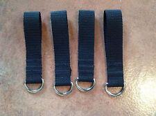 4 X Heavy Duty 4mm Welded Metal D Ring Belt Loop Key Fob Security 25mm Webbing