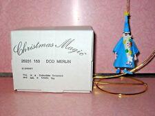 Grolier Disney Christmas Ornament Merlin #153 MIB Sword in the Stone Wizard