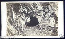 XIX é .PHOTO CDV . Suisse . tunnel de la Tête Noire