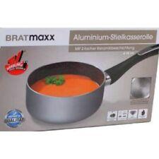BRATmaxx Aluminium-Stielkasserolle, mit 2-facher Keramikbeschichtung, Ø 16 cm