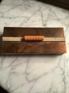 Art Deco Chase Copper & Bakelite Box