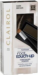 Clairol Root Touch Up Hair Dye, Temporary Roots and Eyebrow Powder, Dark Brown