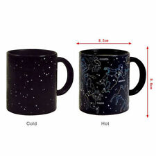 NEW 10oz Heat Changing Night Star Constellation Mug Ceramic Coffee Cup 3896