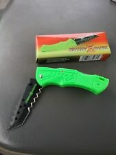 Folding Pocket Knife Tanto Hunter Model Tx080G Zombie Hunter Green