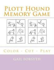 Plott Hound Memory Game: Color - Cut - Play