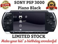 PSP-3000 Piano Black Handheld System Game Console With 16GB Memory Card With Box