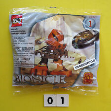MIP McDonald's 2001 Lego Bionicle #1 HUKI Matoran Set 1388 8 Pieces SEALED TOY