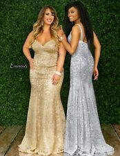 JOVANI STYLE PROM PAGEANT EVENING GOWN GOLD LACE BNWT