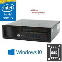 HP EliteDesk 800 USDT Intel Quad Core i5-4570S@2.9GHz 4GB 128 SSD Win 10 Desktop
