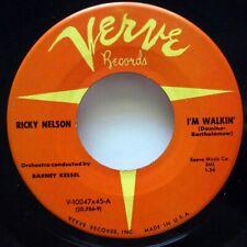 RICKY NELSON 45 I'm walkin / Teenagers romance VERVE rockabilly    JF 485