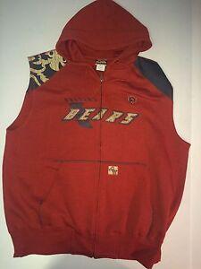 Chicago Bears XL Sweatshirt Vest With Hood New w/o Tags Sewn Logo Hoodie, Heavy