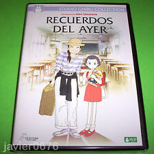 RECUERDOS DEL AYER STUDIO GHIBLI DVD NUEVO Y PRECINTADO