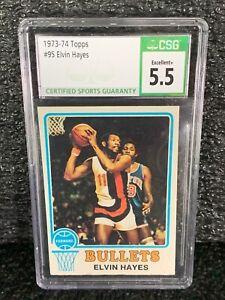 1973 Topps Basketball #95 Elvin Hayes CSG 5.5 EX+