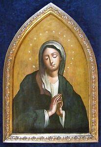 """Antica icona """"Madonna in preghiera""""  19 secolo"""