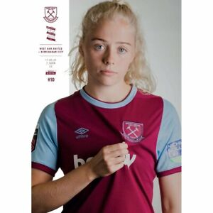 West Ham Women v Birmingham Women 2020/21 ~ Official WSL Programme 17/3/2021