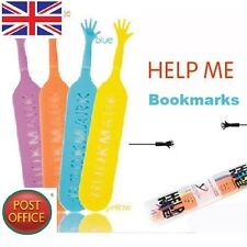 4Pcs Funny Help Me Bookmark Memo Note Pad Stationery Book Mark Novelty Gift