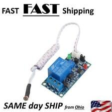 DC 12V Photoelectric Switch Sensor Relay Module 50mmx25mm w 2 Cable AD