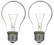 x 2 GE 100w GLS Clear Household Bulbs - E27 / Edison Screw