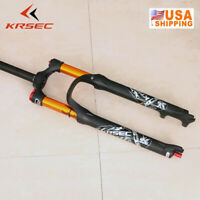 "Mountain Bike Air Suspension Fork 100mm Travel Disc Brake 26/27.5/29"" Ultralight"