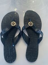 Tory Burch - Thora Navy Blue Thong Jelly Flip Flop Flipflop - Size 6
