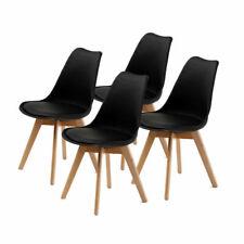 La Bella Eames PU Padded Dining Chair, Black - 4 Pack