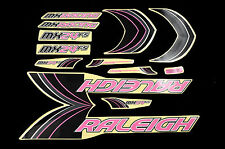 DECAL SET RALEIGH MX24FS PINK/BLACK STICKER SUIT MANY FULL SUSP BIKES WTFRMX24