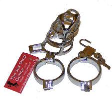 Thesexshoponline METAL Male Bondage Chastity Device avec 2 anneaux
