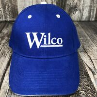 WILCO BASEBALL HAT CAP BLUE WHITE ADJUSTABLE BY OTTO ONE SIZE FITS MOST OSFM