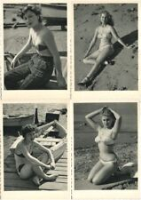 PIN UP EROTIQUE RISQUE BATHING GIRLS FEMMES 22 CPA 1950's