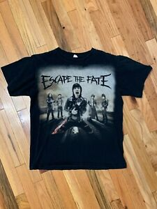 Escape The Fate Double Sided 2013 Concert Tee Shirt Size Medium Rock Punk Emo