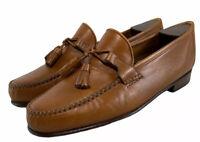Allen Edmonds Urbino Tassle Loafers Tan Leather Dress Shoes Men's Size Us 9.5 D