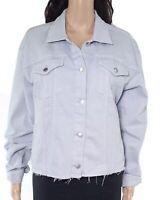 Lauren by Ralph Lauren Women's Denim Jacket Blue Size XL Frayed Hem $145 #264