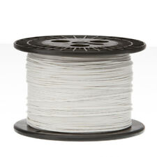"28 AWG Gauge Stranded Hook Up Wire White 1000 ft 0.0126"" PTFE 600 Volts"