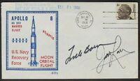 s555) Raumfahrt Space Apollo 8 Vanguard CC 28.12.1968 Autograph Bormann + Lovell