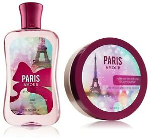 Bath & Body Works PARIS AMOUR Full Size Duo - Body Butter & Shower Gel