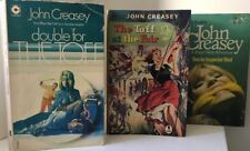 3x BOOKS JOHN CREASEY Double for the TOFF *At the fair *INSPECTOR WEST FREE POST