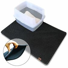 Blackhole Cat Litter Mat (Gray) Extra Large Size 36x25 inch - Dual-Structure