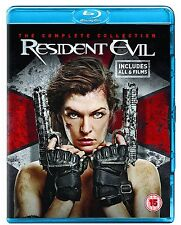 Resident Evil 1 2 3 4 5 Blu Ray 1 - 5 The Final Chapter Complete collection RB