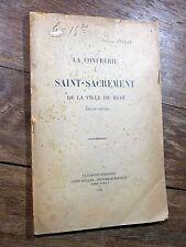 Éd. Éverat - La Confrérie du Saint-Sacrement de Riom 1905 PUY-DE- DÔME Auvergne