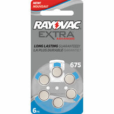Rayovac Extra Advanced Hearing Aid Batteries Size 675 + Battery Holder Keychain