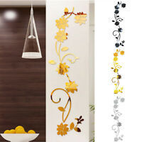 3D Hearts Mirrors Wall Stickers Decal DIY Art Mural Removable Home Room Decors